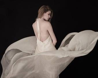 Vanessa bridal ivory silk chiffon skirt