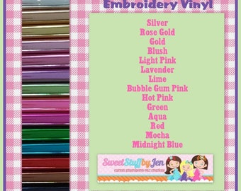Foil Mirror Marine Vinyl Sheets-Sparkle Vinyl-Glitter Vinyl Variety Pack-FOR EMBROIDERY MACHINES-Hooded Towel Supply,Pre-tend Play, Doll