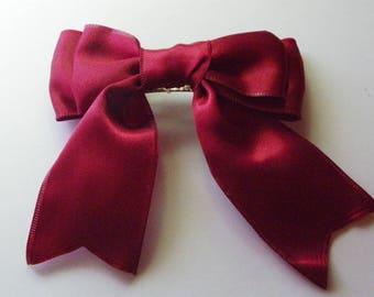 Wine Hair Bow  1101