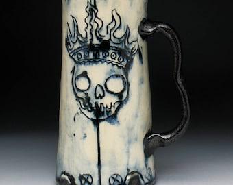 Jumbo King of Beer Skull Mug