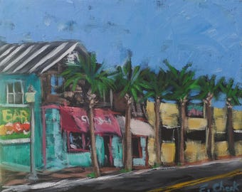 "First Street- Original plein air oil painting on canvas 8"" x 10"""