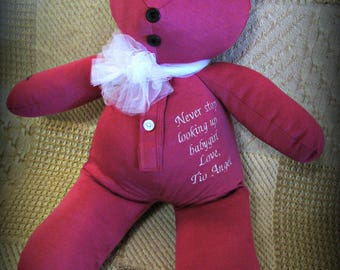 Personalised Teddy Monster, New Baby Gift, Teddy Bear, Custom Embroidered  Teddy Bear,