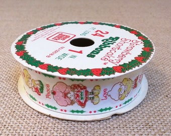 Vintage Strawberry Shortcake Christmas Gift Wrapping Ribbon Apple Dumplin Lemon Meringue Orange Blossom 4.33 Yards