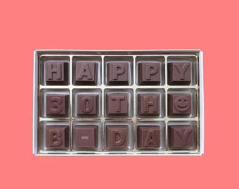 ship AFTER 8/7 30th Birthday Gift for Her Women Gift for Him Man Gift Unique Romantic Dirty Flirty 30 Years Old Happy 30th B Day Milk Chocol