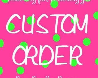 custom listing for AMANDA BLAIR only