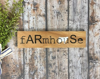 Farmhouse Sign typewriter style Rustic sign with Cow Distressed farmhouse sign Milk Cow Farmhouse Decor Scrabble style Pig Chicken Goat
