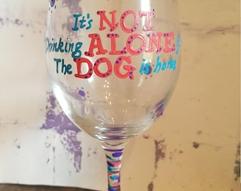 Dog Lover wineglass
