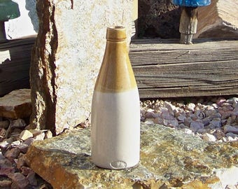 Antique Stoneware Bottle Buchan Company Bottle Late 1800s Bar Decor Man Cave