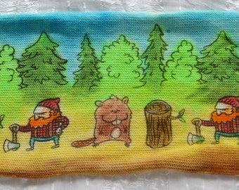 Lumberjack & Beaver Sock Blank