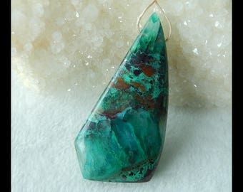 New, Chrysocolla Gemstone Pendant Bead,61x29x11mm,24.4g(g0030)