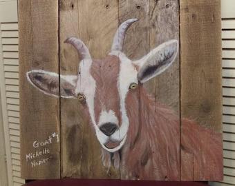 Animal Painting on Pallet Wood
