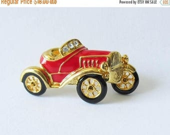 On Sale Rucinni Car Pin Red and Convertible Car Brooch with Original Card