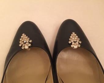 Pair Rhinestone Shoe Clips