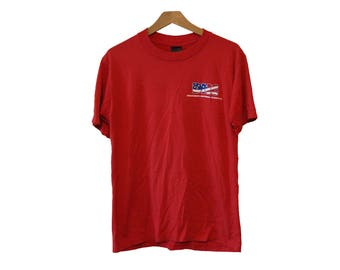 Vintage DNC Tshirt Democratic National Committee Red Size Medium