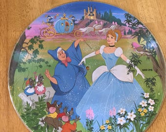 Vintage Disney Cinderella Picture Disc 33 1/3 Record