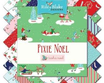 Pixie Noel Riley Blake 10 Inch Stacker Layer Cake Tasha Noel 42 Pieces