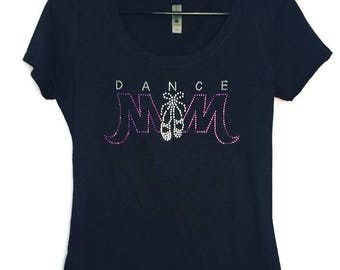 Rhinestone Dance Mom-Purple-Dance Mom Shirt-Bling-Rhinestones-Dance Mom-Sparkle-Recital-Dance