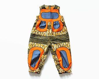 Girls romper, baby onesie, African Wax Cotton baby playsuit, ready to ship, baby romper