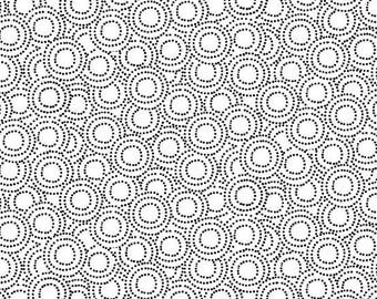 Monochrome White with Black Circles TP-1826-W by Makower for Andover Fabrics