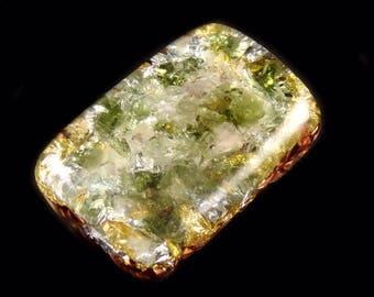 Moldavite Orgonite®. Fluorite, Kunzite, Morganite, Tibetan Rhodizite Phenacite & Petalite Crystals, Selenite Tourmaline, Elite Shungite (g36