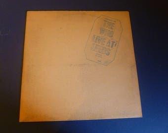 The Who: Live At Leeds *w/Inserts* Vinyl LP 1970 Decca DL-79175
