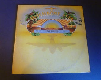 Wishbone Ash Live Dates Double Album Vinyl Record LP MCA2-8006 MCA Records 1973