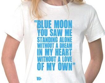 "Manchester City Shirt Women's Large / ""Blue Moon"" / MCFC Shirt / Man City Gifts / Football Presents / Soccer Tee Shirt  / Football Gifts"