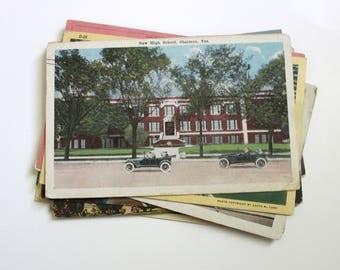 SALE - 25 Vintage Texas Postcards - DAMAGED