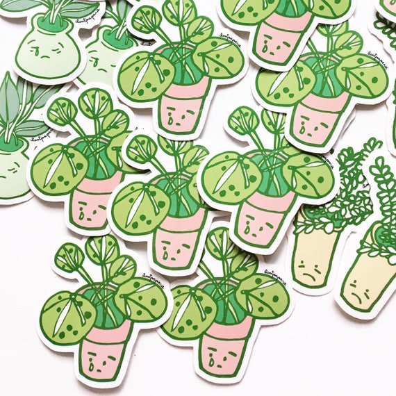 Sad Plants Sticker Pack of 3