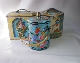 Instant Collection of Vintage English Biscuit Tins