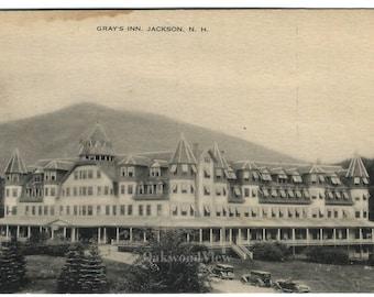 Jackson NH Gray's Inn Postcard c1910s, Antique New Hampshire Ephemera, FREE SHIPPING