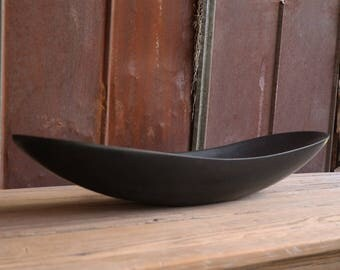 Black Granite Oblong  Centerpiece Bowl