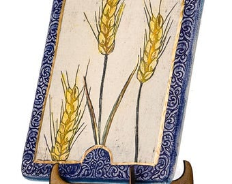 WHEAT - One of the The Seven Species, mentioned in the Bible - Hand Made - wall plaque - Limited Edition