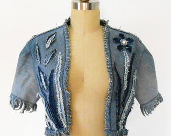 Denim Bolero Jacket