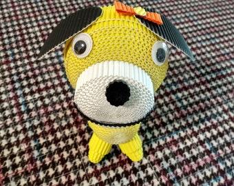 LemonGift payper art,Small yellow dog