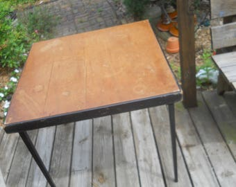 Vintage Singer Featherweight Sewing Machine Folding Table--Serial Numbers Match on Table & Insert