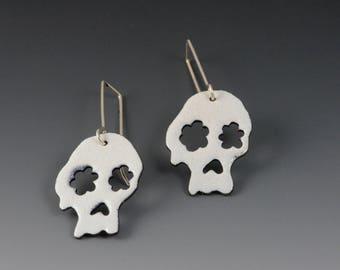 Sugar Skull Enamel Earrings