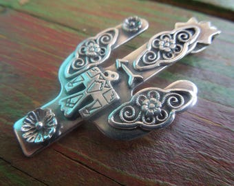 Saguaro Cactus Sterling Thunderbird Filagree Pendant - sterling silver