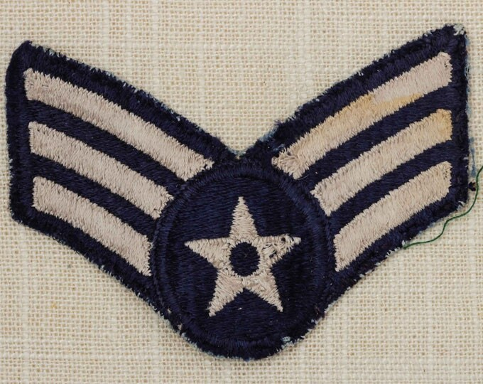 US Air Force USAF Vintage Patch Senior Airman E-4 Uniform Sew on Small 7Z