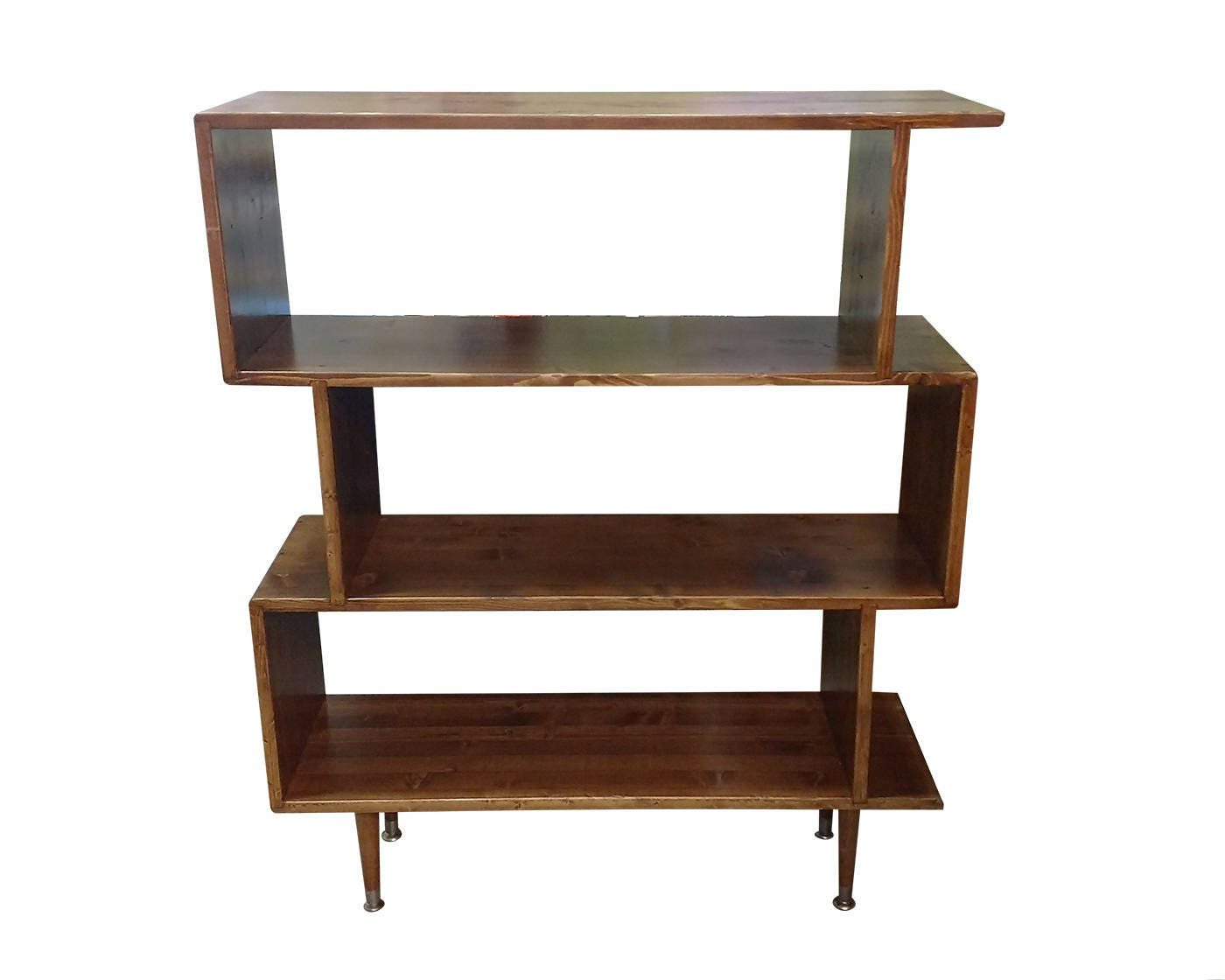 Design Zig Zag Bookshelf mid century inspired zigzag bookshelf made to order 120 days