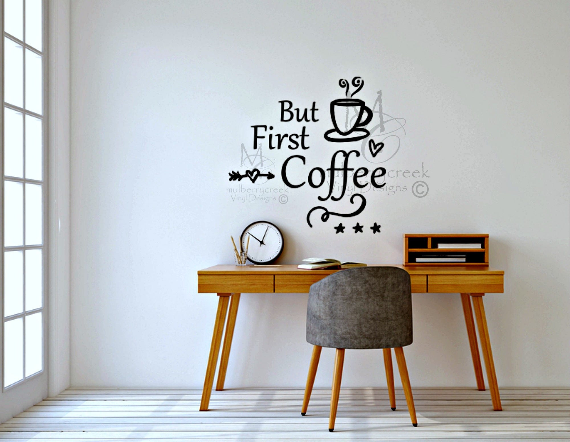 But First Coffee Sign But First Coffee Decor Coffee Vinyl - Custom vinyl wall decals coffee