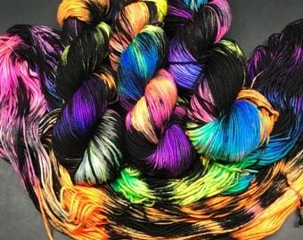 Trevor Morgan DK , DK, Superwash Merino, 100 grams, Hand Dyed Yarn, double knitting, Unicorn Party