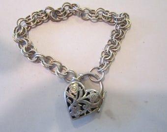 sterling  heart bracelet openwork heart sterling jewelry