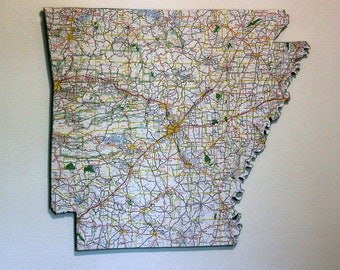 ARKANSAS State Map Wall Decor | Vintage Map | Perfect Gift for Any Occasion |Wall Hangings | Medium Size