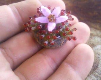 Carnivorous Plant Sculpture Mini Glass Sundew