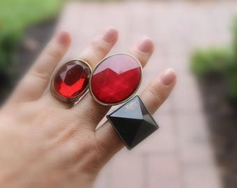 Vintage Costume Rings Statement Jewelry
