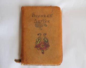 Antique Scarlet Letter Book Travel Size Gift Size Hawthorne Hurst and Co NY