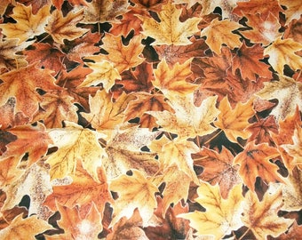 Fall Fabric, By The Yard, Hoffman California, Frosted Fall Collection, Fall Autumn Leaves, Quilting Sewing Crafting Fabric, Novelty Fabric