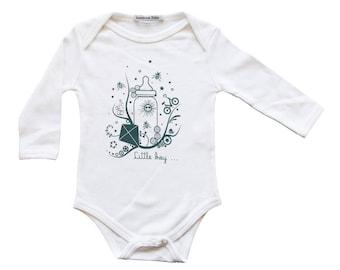 White organic cotton for boy Bodysuit