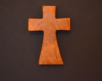 "Small Wall Cross;Free Ground Shipping USA; Crooked Cross;Cross Wall Decor; Mesquite; Wooden Wall Cross; 3""x5""x1""; cc5-8090517; Home Decor"